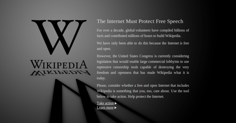 Thank You Wikipedia, Google, Reddit, Mozilla For taking A Stand
